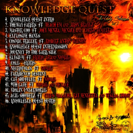 Back cover of Knowledge Quest 'The Ugly Struggle' volume 1