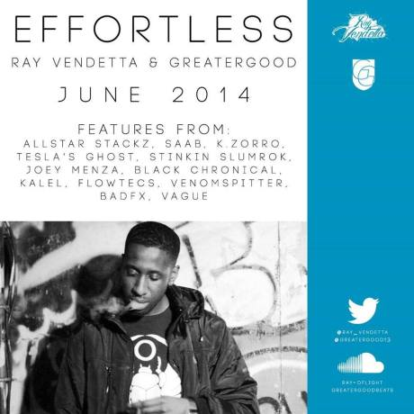 Effortless by Ray Vendetta and Greater Good lands June of 2014