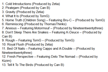 track list dont sleep